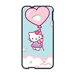 HTC One M7 Cell Phone Case Black Hello Kitty 004 YWU9247353KSL