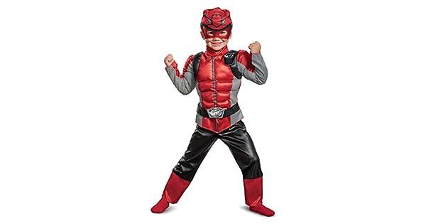 Amazon.com: Disfraz muscular para niño de Red Ranger Beast ...