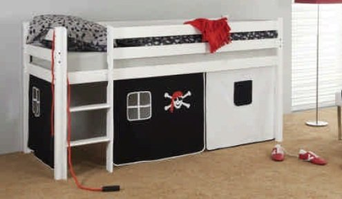 Etagenbett Vorhang Auto : Vtotenkopf vorhang hochbett kinderbett seemann pirat stoff 3 teilig