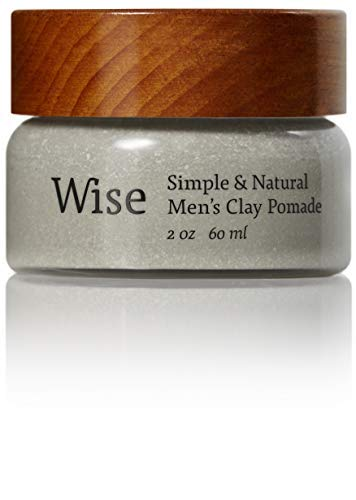 Wise Men's Glacier Clay Pomade – 60 ml/2oz   All Natural Professional Strength Hair Putty for Strong Hold and Styling   Fresh and Earthy Scent with a Matte Finish   Luxury Healthy Hair Care Produc