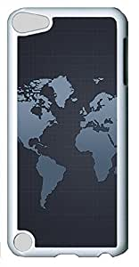 iPod Touch 5 Case,iPod Touch 5 Cases - Patterns Map Grid PC Custom Design iPod Touch 5 Case Cover - Polycarbonate¨CWhite