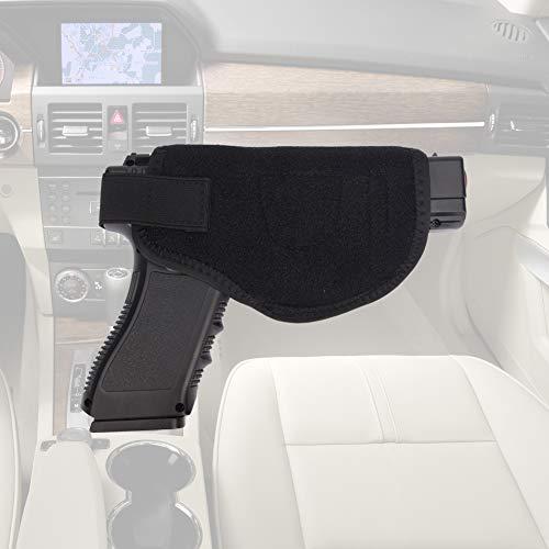 TUXI Car Gun Holster,Universal Vehicle Stick Mount Car/Truck Gun Pistol Concealed Gun Holsters, Handgun Pistol Holster, Handgun Storage Holster - Gun Safe for Cars (Car Gun Holster)