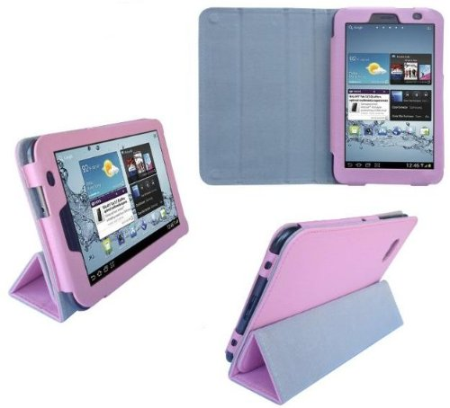 HappyZone - (Pink) Portfolio Leather Case Cover with Buil...