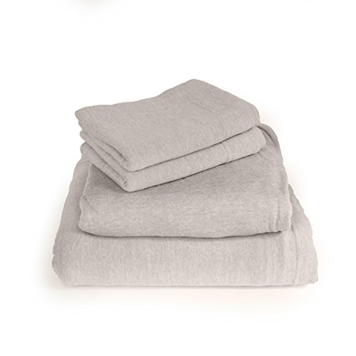 Cotton Rich T-Shirt Soft Heather Jersey Knit Sheet set - All Season Bed Sheets, Super Comfortable, Warm and Cozy By Morgan Home Fashions (Full, Heather Grey) (Jersey Knit Bed Sheets)