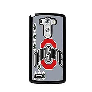 Ohio State Buckeyes with Grey (Gray) Background Custom Shockproof Plastic Case By S and S Accessories(TM) for LG G3