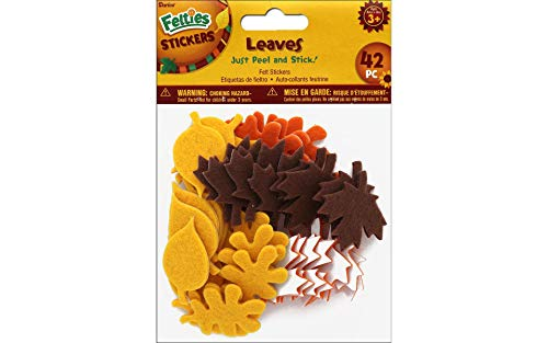 Autumn Fall Color Leaf Felt Stickers - 3 Pack]()