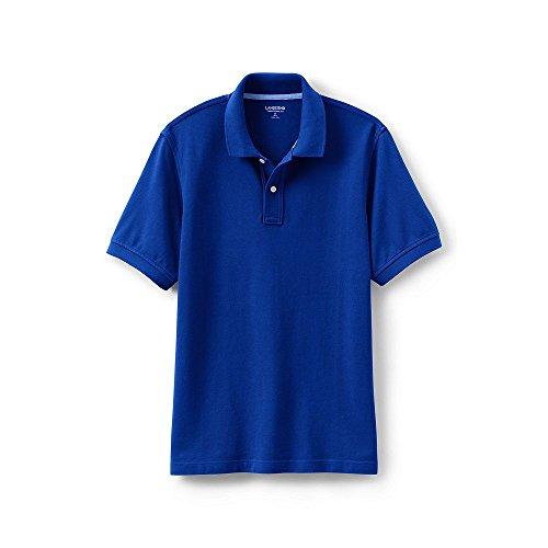 Lands' End Men's Mesh Short Sleeve Polo Shirt, M, Rich Sapphire (Shirt Mesh Lands End)