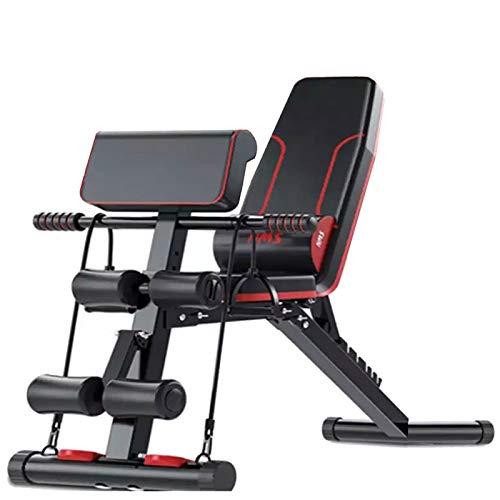 HJHY Banco de Pesas Plegable – Banco de Musculacion Multifunción para Entrenamiento de Cuerpo Entero, Sistema para…