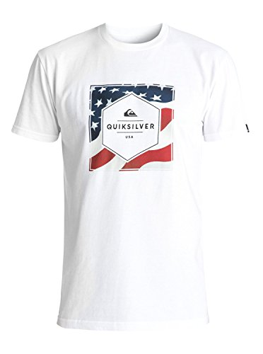 Quiksilver Men's Stars and Stripes Tee, White, Large