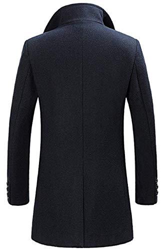Lungo Da Giacca Cappotto Blau4 Sl Trench Elegante Uomo Autunno Coat Di Invernale Lana YqZdf