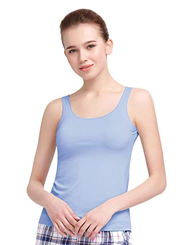 Blue Alizeal in Vest Sleeveless Built Women Bra Light P0r80xFqw
