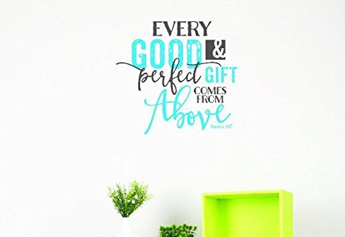 Multi 20 x 30 20 Inches X 30 Inches Color Design with Vinyl US V JER 2788 3 Top Selling Decals Every Good /& Perfect Gift Comes From Above James 1:17 Wall Art Size