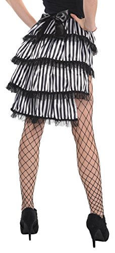 Black and White Tie-on Bustle Costume (Tie On Bustle)
