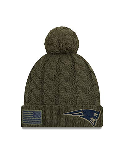 19837610e96dc All NFL Salute to Service Beanies. New Era Women 2018 Salute to Service  Sideline Cuffed Knit Hat – Olive ...