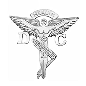 NursingPin Doctor of Chiropractic Medicine Graduation Pin with Diamond in Silver