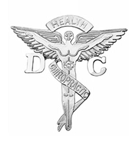 NursingPin Doctor of Chiropractic Medicine Graduation Pin with Diamond in Silver