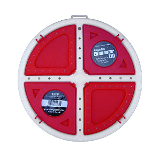 - Challenge Plastics 5 Gal. Bait Bucket Lid - 3 Tackle Compartments