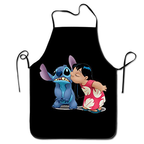 [Cartoon Lilo & Stitch Easy Clean BBQ Cooking Bib Aprons] (Easy Lilo And Stitch Costumes)