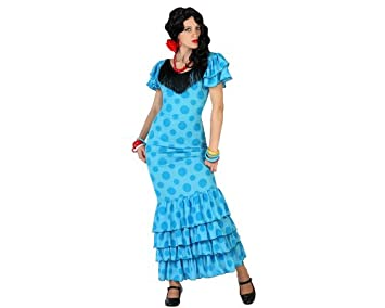 Atosa- Disfraz flamenca, Color celeste, M-L (18339): Amazon.es ...