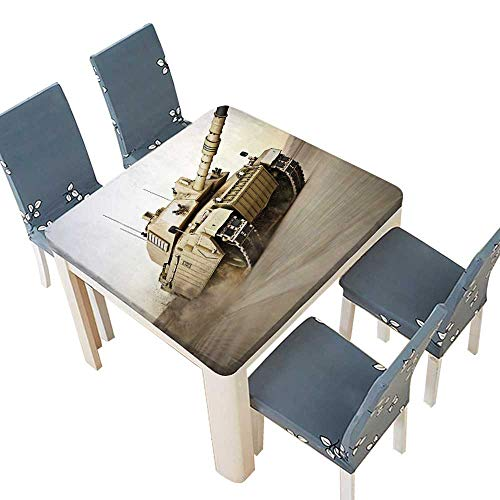 PINAFORE Table in Washable Polyeste Co Founder Steals US Army Tank After Series Assorted Size 37.5 x 37.5 INCH (Elastic Edge) for $<!--$23.99-->