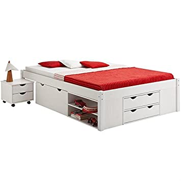 lit avec rangement 140 table de lit a roulettes. Black Bedroom Furniture Sets. Home Design Ideas