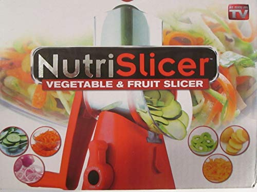 NUTRISLICER 3-in1 Spinning/Rotating Mandoline and Countertop Food Slicer, Chopper, and Grater As Seen On TV (As Seen On Tv Manual Food Processor)