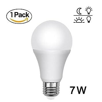 Dusk a Dawn Sensor inteligente de luces Bombilla, 7 W bombillas LED al aire libre