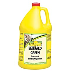 Simoniz E0985004 Emerald Green Liquid Dishwashing Detergent, 1 gal Bottles per Case (Pack of 4)