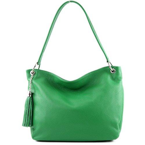 Leather Bag Case Shoulder ital modamoda Genuine de Leather Green T154 Bag Shoulder qzOt7wtC