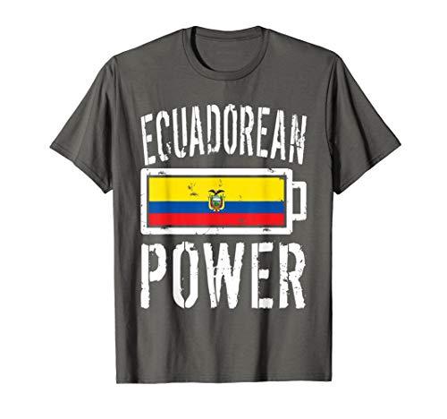 - Ecuador Flag T-Shirt   Ecuadorean Power Battery Proud Tee