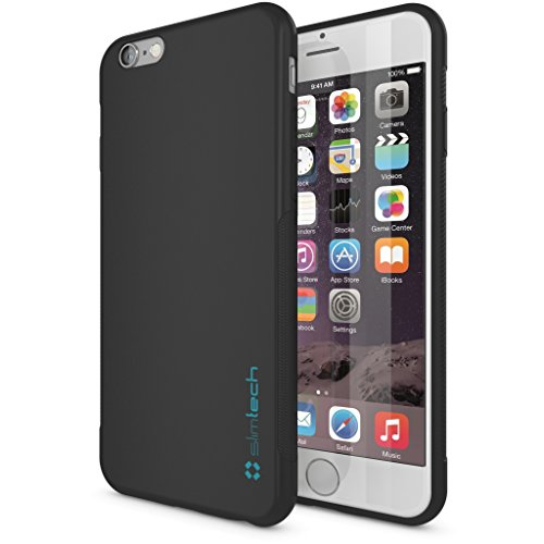 Price comparison product image iPhone 6 / 6S Case, Ultra Slim Minimalist design by Slimtech - fits iPhone 6 (4.7) and 6S (AT&T, Verizon, Sprint, T-Mobile) Thin, Anti-Slip, Drop Resistant Protective case with scratch resistant screen protector - Eco Friendly [Lifetime Warranty] [BLACK]