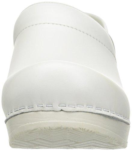 mujer para 457406W Professional de cuero Patent Blanco Zuecos 4 Sanita 8ZwqRaC