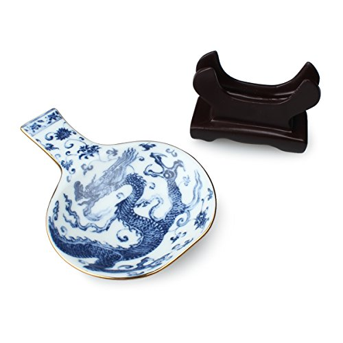 Blue Dragon Sauce Dish with Chopsticks - Museum Palace Shop National