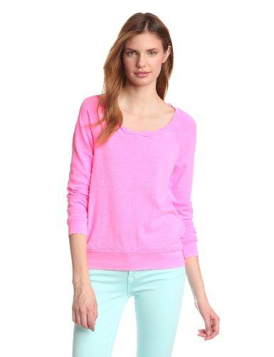 Splendid Women's Boatneck Pullover, Neon Pink X-Small