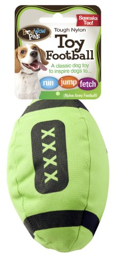 Bow Wow Army Football Nylon Squeaky Dog Toy , Assorted Color
