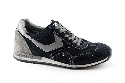 Nero Giardini 4470 Blu Scarpe Uomo Sneaker Sportive Lacci Blu