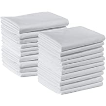 20 Standard Size 100% Cotton White T220 Percale Wholesale Bulk Discount Pillowcases Tie-Dying, Silk Screening, Hotels, Crafts, Camps, Parties, Physical Therapy (20 Pack - Standard - 100% Cotton)