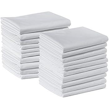 20 standard size 100 cotton white t220 percale wholesale bulk discount pillowcases. Black Bedroom Furniture Sets. Home Design Ideas