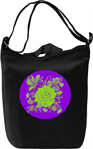 Green Flowers Borsa Giornaliera Canvas Canvas Day Bag| 100% Premium Cotton Canvas| DTG Printing|