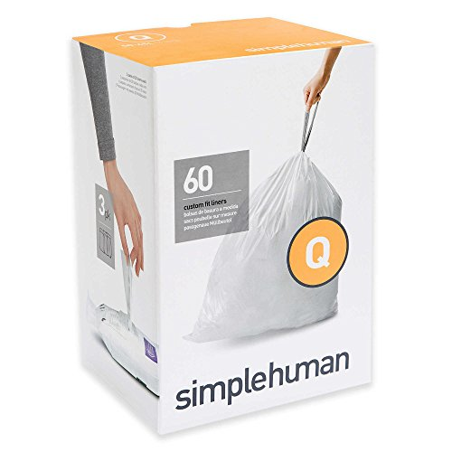 Simplehuman Code Q 60-Pack 13-17-Gallon Custom Fit Liners (Simplehuman Liner V compare prices)
