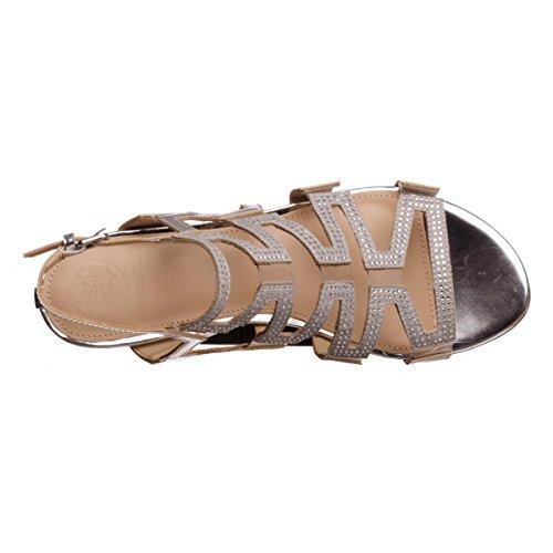 Guess - Zapatillas para deportes de exterior de Piel para mujer plateado plateado 35