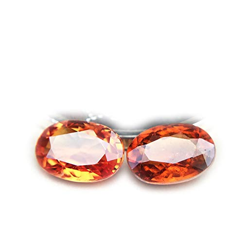 Lovemom 1.17ct/2pcs Natural Oval Orange Sapphire Songea Tanzania #W by Lovemom