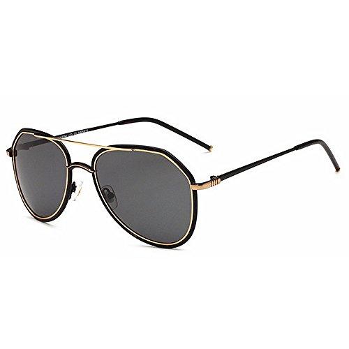 polarizadas vendimia libre al Marco de UV Unisex metálico de Gafas la fuerza sol hombres Deporte ultraligero los la la 400 de para Gafas aérea retro de de Oro lente protección la HD aire Yxsd de qf0t6Mt