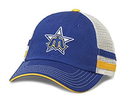 MLB American Needle Foundry Baseball Soft Mesh Back Adjustable Snapback Hat (Seattle Mariners)