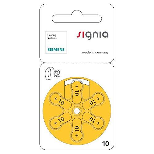 Siemens Hearing Aid Batteries Size 10 10 Packs of 6
