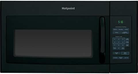 postalproducts RVM5160DHBB Hotpoint 1.6 cu. ft. Over-The-Range Microwave Oven Black , 16.5