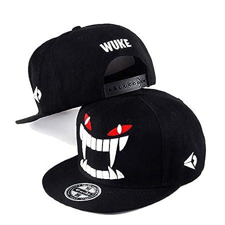 WUKE Nueva Gorra de béisbol Negro Hombres Casquette Homme Hiphop ...