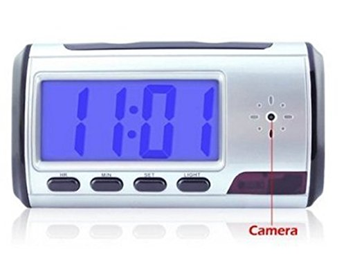 eBoTrade Dirct Portable Alarm Clock Spy Camera DVR with Motion