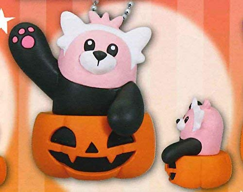 Nintendo Pokemon Sun Moon Halloween Pumpkin Mascot Figure Swing Keychain~Kiteruguma Bewear -