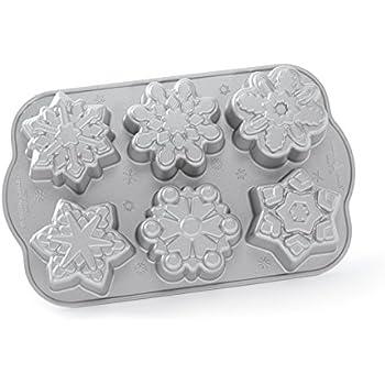 Nordic Ware Frozen Snowflake Cakelet Pan, Metallic